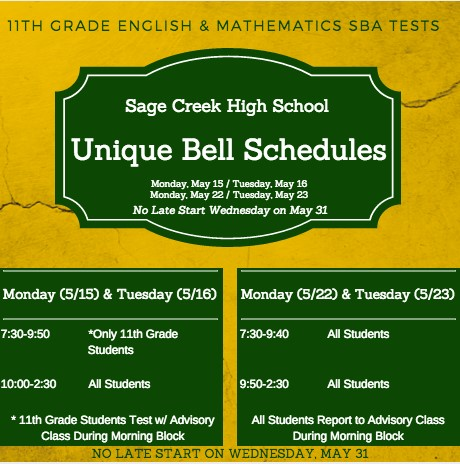 May Bell Schedule