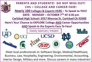 College Career Fair Oct 7