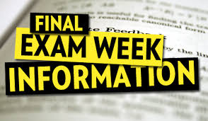 final exam week information