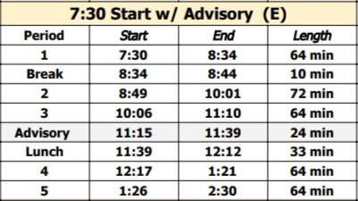 Oct 31 Bell Schedule