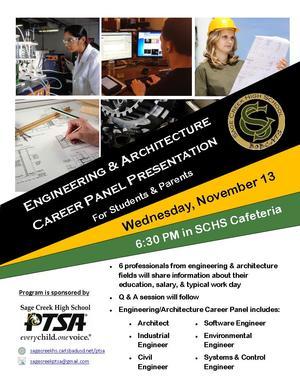 SCHS Engineering Panel Nov 13