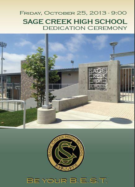 SCHS Dedication Program