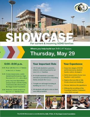 2014 SCHS Showcase Flyer Photo