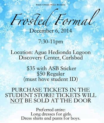 Frosted Formal